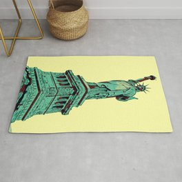 Lady Liberty NYC Stay Strong Rug