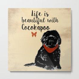 Black Cockapoo Dog Metal Print
