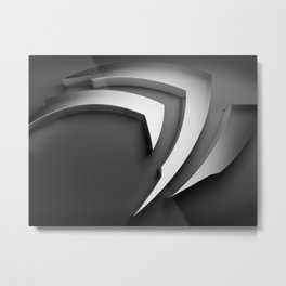 Gray 3D Texture Metal Print