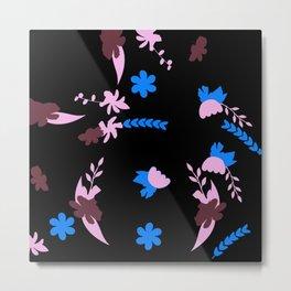 Whirling Flowers Metal Print