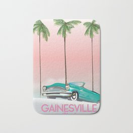 Gainesville Florida retro travel poster. Bath Mat