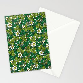 green density full of leaves and flowers Stationery Cards
