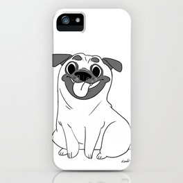 Pug Lineart iPhone Case