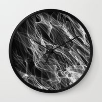 smoke Wall Clocks featuring Smoke. by Assiyam