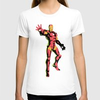 iron man T-shirts featuring iron man  by mark ashkenazi