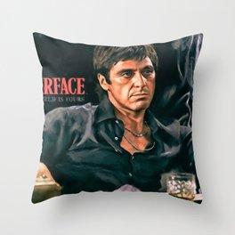 Classic Scarface Tony Montana Poster Throw Pillow