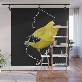 New Jersey – American Goldfinch (Black) Wall Mural