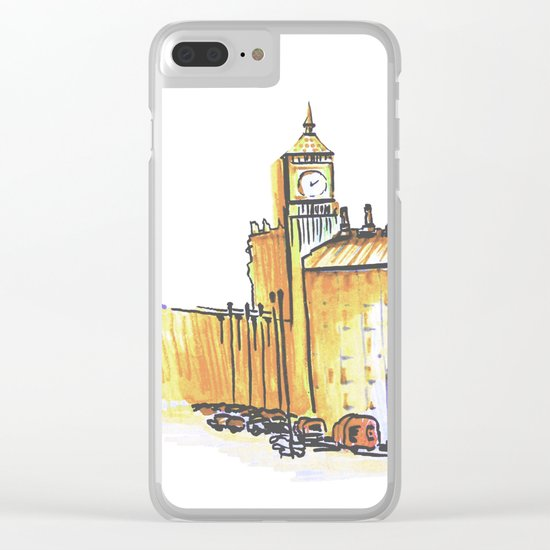 simple London on white background Clear iPhone Case