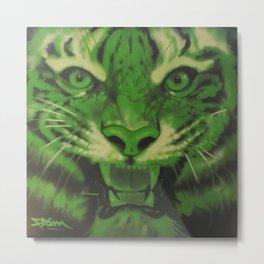 A Green Tiger Metal Print
