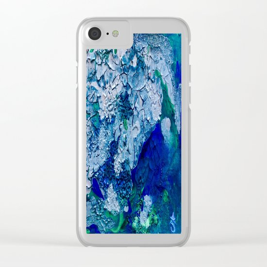 Imagined Ocean View From Above Clear iPhone Case