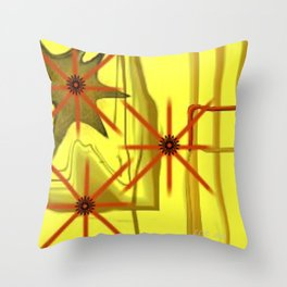 Three Stars Abstract Art by Saribelle Rodriguez Throw Pillow