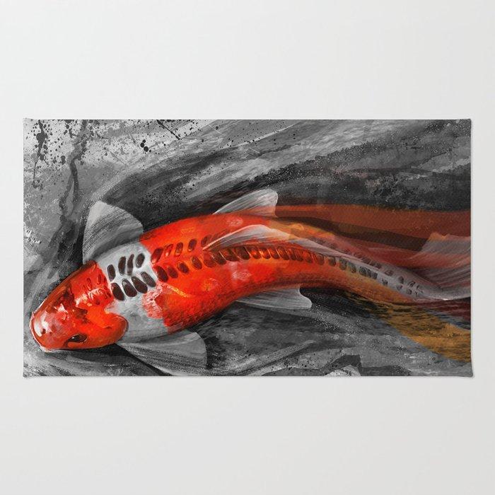 Flowing Koi Rug By Stevegoad