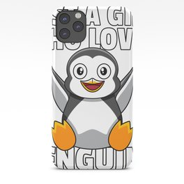 Penguin Funny Sweet Lover Ice Cream iPhone Case