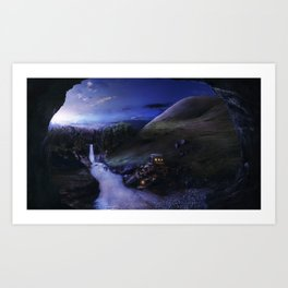 Valley of silence Art Print
