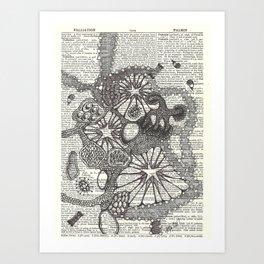 Globby Blobs Art Print