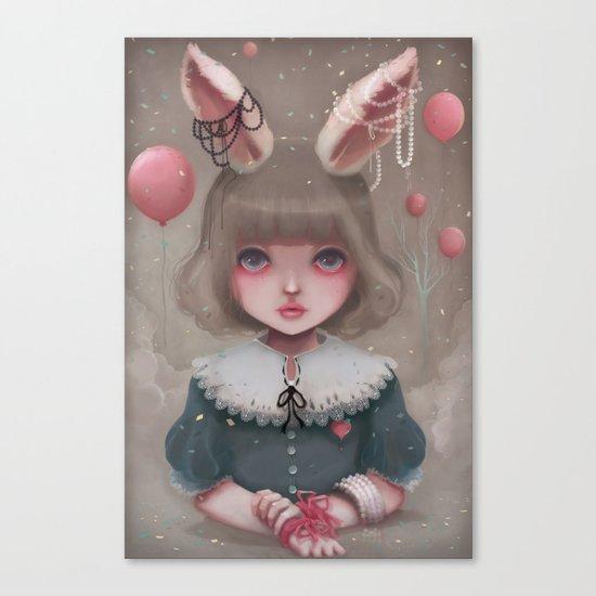 Juliette, balloons & pearls... Canvas Print