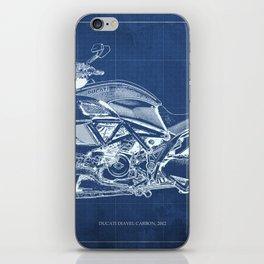 Diavel Carbon Blueprint iPhone Skin