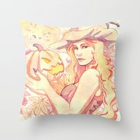 witchcraft Throw Pillows featuring Witchcraft by Souzou Inc