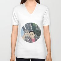 murakami V-neck T-shirts featuring HARUKI MURAKAMI by Lucas Eme A