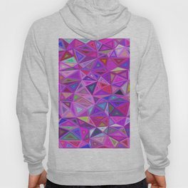 pink triangle background abstract Hoody