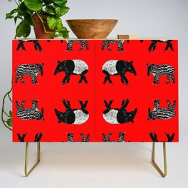 Dance of the Tapirs in red Credenza