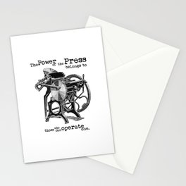 The Power of the Press Stationery Cards