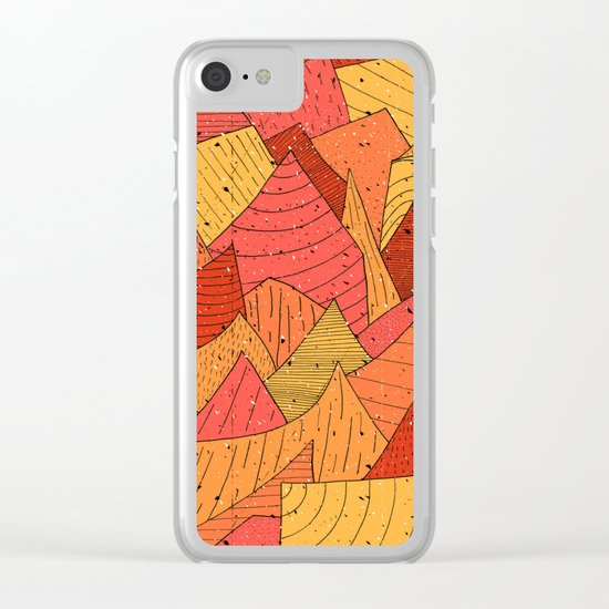 Pumpkin Slices Clear iPhone Case