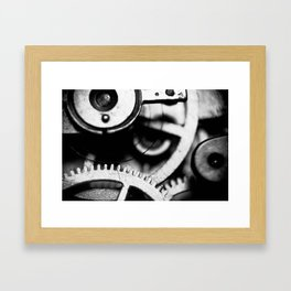 Toothed Wheels Framed Art Print