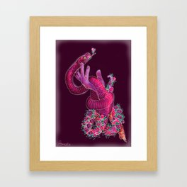 Your demons can become your allies Framed Art Print