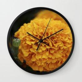 Flor de Cempasuchil Wall Clock