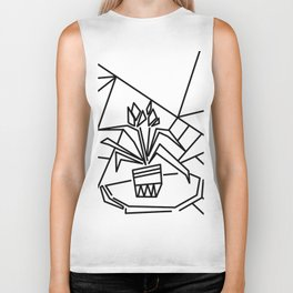 Flowers on the window -coloring Biker Tank