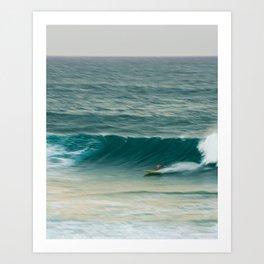 Surfer in Burleigh Heads Art Print