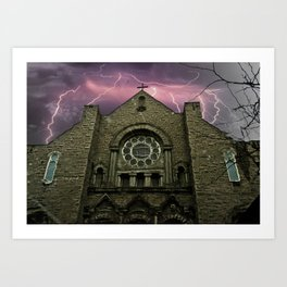 Dark Church! Art Print