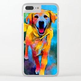 Golden Retriever 3 Clear iPhone Case