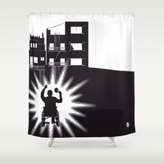 The Black Collection' Window Shower Curtain