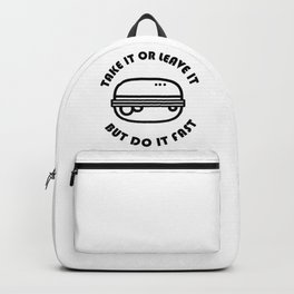 Fast food joke Backpack