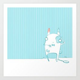 The rabbit with patches Art Print