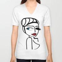 lara croft V-neck T-shirts featuring Lara by Kalex Art