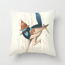 Fairy Wren Throw Pillow