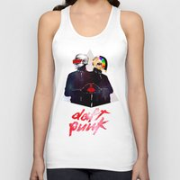 daft punk Tank Tops featuring Daft Punk by omurizer