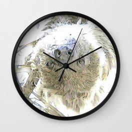 fascinating altered animals - Sloth Wall Clock