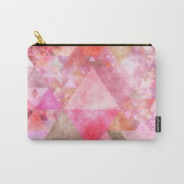 Pink triangles - Abstract elegant watercolor pattern Carry-All Pouch