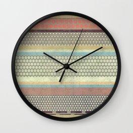 Patternwork IX Wall Clock