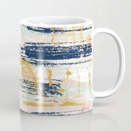 Blush, Gold, Navy, White, Mint Abstract  Coffee Mug