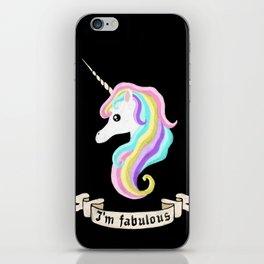 Fabulous unicorn iPhone Skin