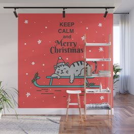Keep Calm & Merry Christmas Wall Mural