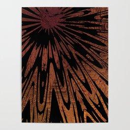 Native Tapestry in Burnt Umber Poster