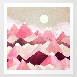 Blush Berry Peaks Art Print