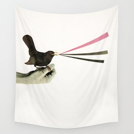 Bird in the Hand Wall Tapestry