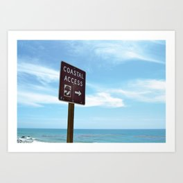 Coastal Access Art Print